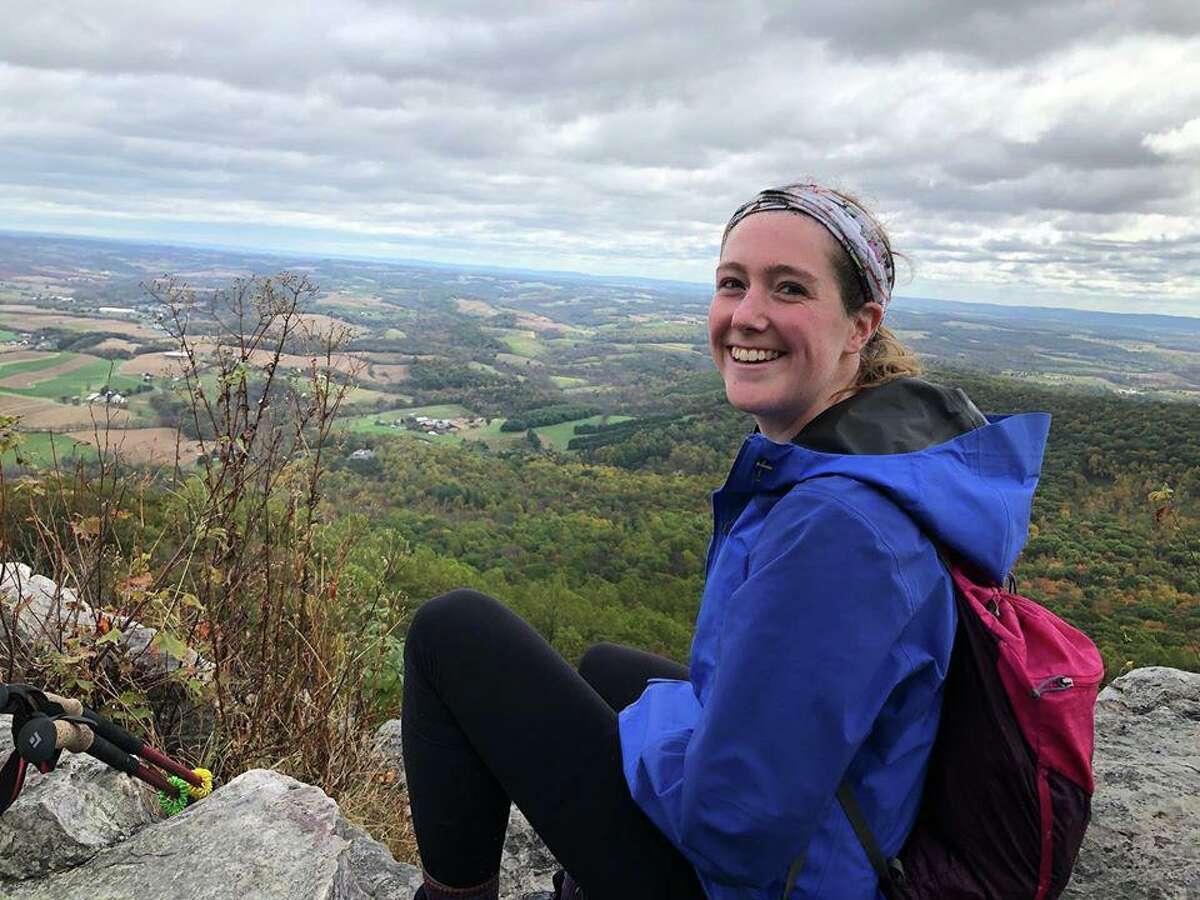 Diana Jackson, 23, of Darien, enjoys the view along the trail.