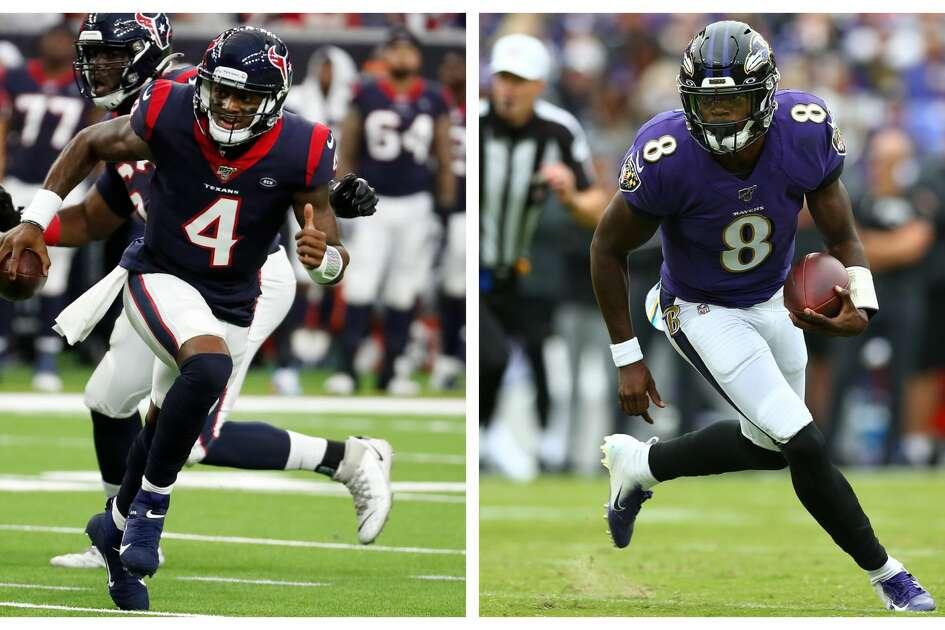 Texans QB Deshaun Watson; Ravens QB Lamar Jackson
