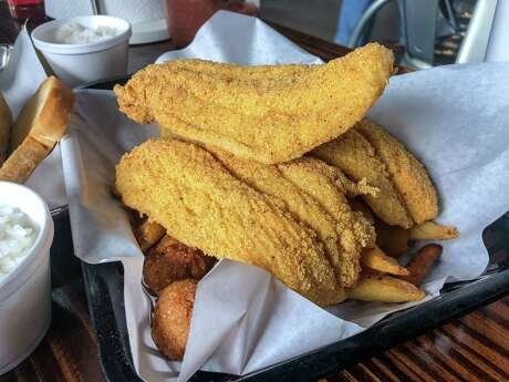 Fried catfish at Ray's BBQ Shack