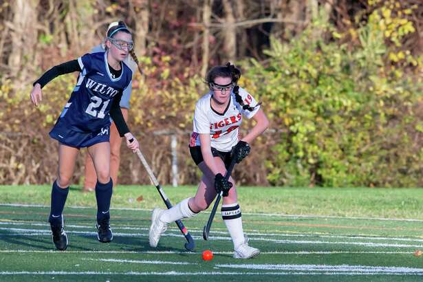 Cate Irving and the Ridgefield field hockey team advanced to the state quarterfinals with a 2-0 win over Wilton on Wednesday.