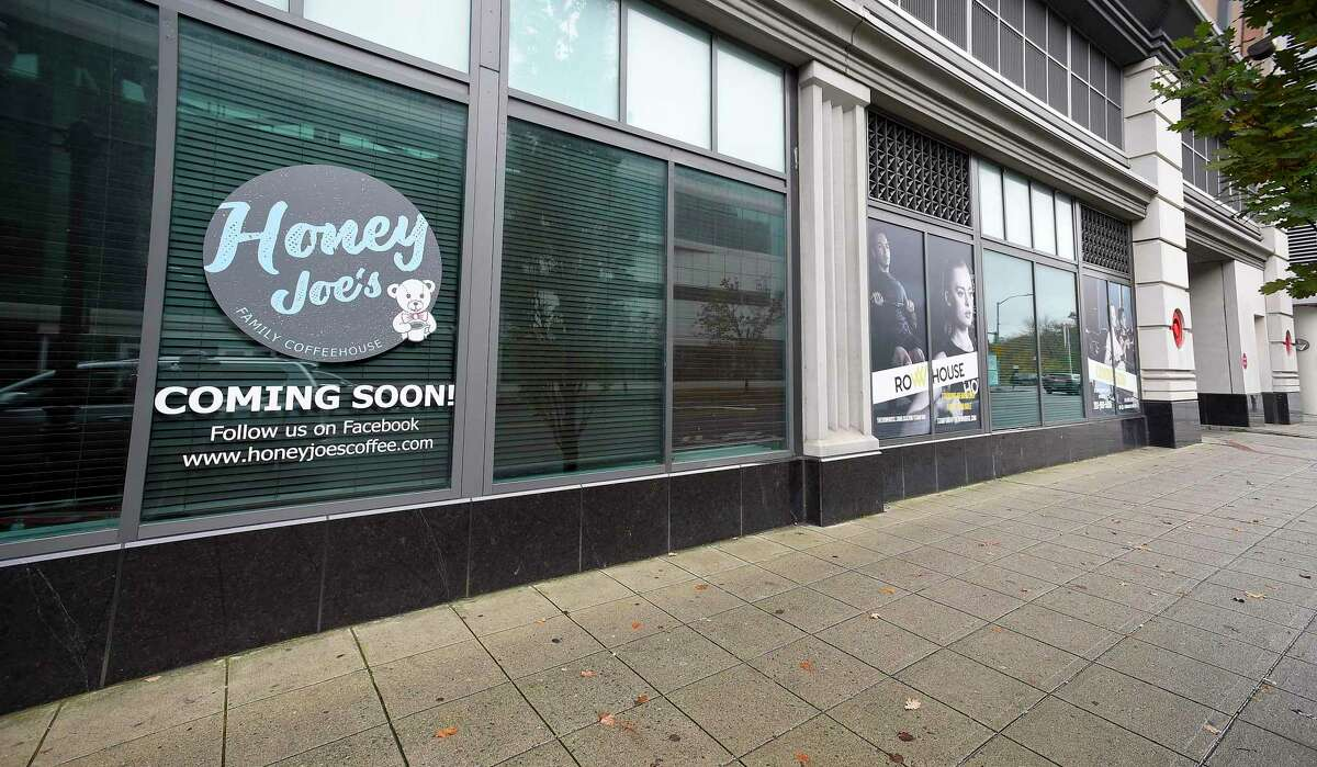 The Honey Joe's coffee shop and a Row House center are set open in early 2020 at 5 Broad St., in downtown Stamford, Conn.