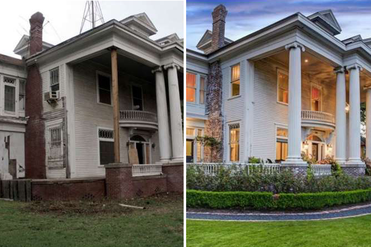Before-and-after photos show dramatic transformation of historic Montrose home
