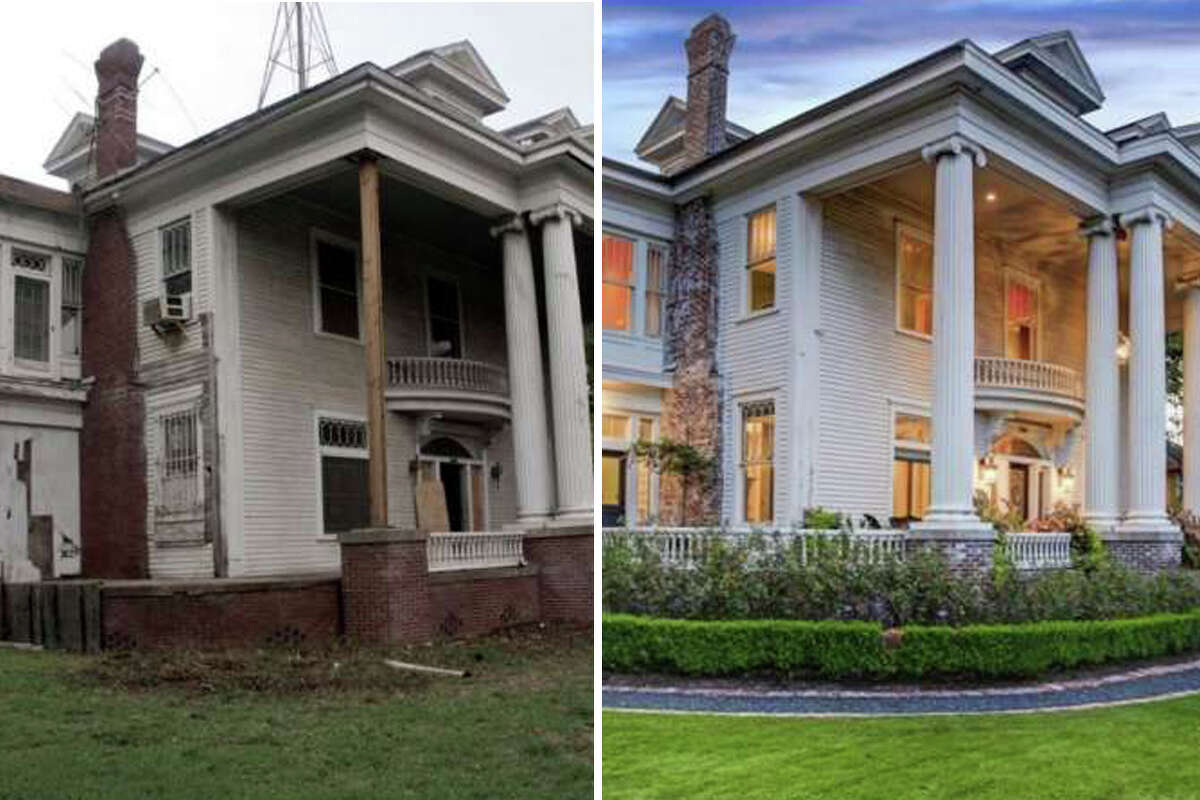 First built in 1912, this $2.2M home is located off Brandt Street in the Montrose Historic District was renovated in 2011, transforming from a dilapidated home to a chic and modern piece of history. >> Keep clicking through to see the home's dramatic transformation.