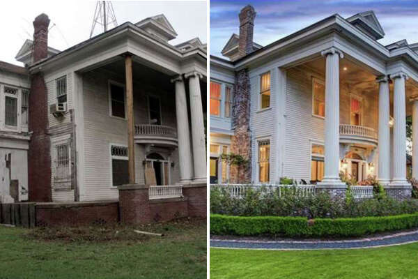 First built in 1912, this $2.2M home is located off Brandt Street in the Montrose Historic District was renovated in 2011, transforming from a dilapidated home to a chic and modern piece of history.
