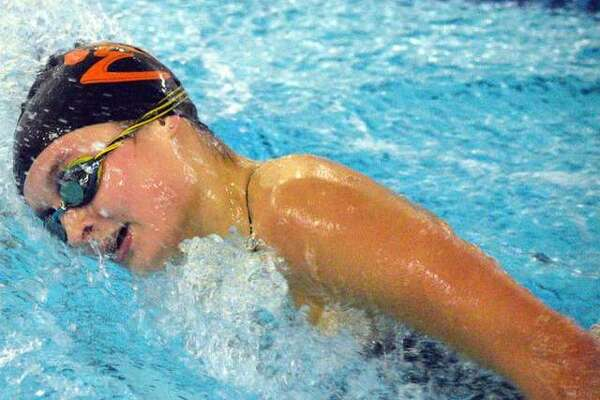Edwardsville's Isabella Grinter swims the 500-yard during the Southern Illinois Girls High School Championships on Nov. 7 at Chuck Fruit Aquatic. Grinter will compete in the same event on Saturday in the Springfield High School at Eisenhower Pool.