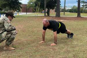 San Antonio native SPC. Ben Ritchie became the first Basic Combat Training trainee to ace the Army's new physical fitness test, making only the third trainee in history to get a perfect score.