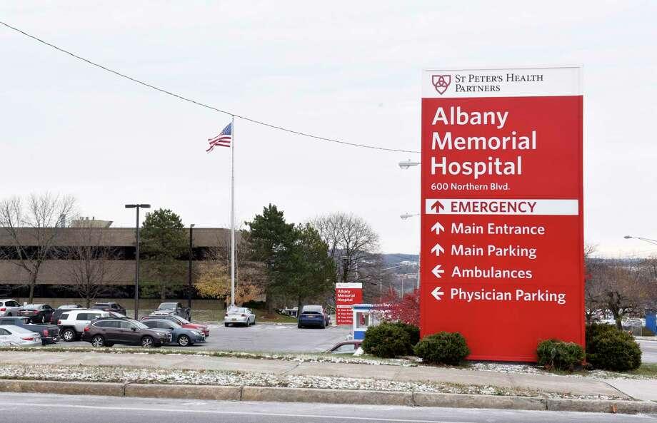 Exterior of Albany Memorial Hospital on Thursday, Nov. 14, 2019 in Albany, N.Y. (Lori Van Buren/Times Union) Photo: Lori Van Buren, Albany Times Union / 40048270A