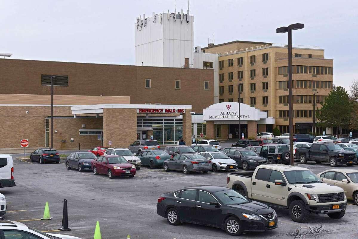 Exterior of Albany Memorial Hospital on Thursday, Nov. 14, 2019 in Albany, N.Y. (Lori Van Buren/Times Union)