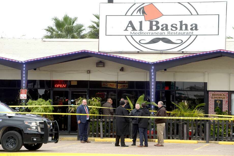 Beaumont police, detectives and the crime scene unit continue their investigation at Al Basha Mediterranean Restaurant following a burglary and officer involved shooting early Thursday morning. Officers responded to a call reporting a burglary in progress at the restaurant around 5:15 a.m. They encountered a man inside, and an officer discharged his weapon, fatally shooting the suspect. Photo taken Thursday, November 14, 2019 Kim Brent/The Enterprise Photo: Kim Brent/The Enterprise