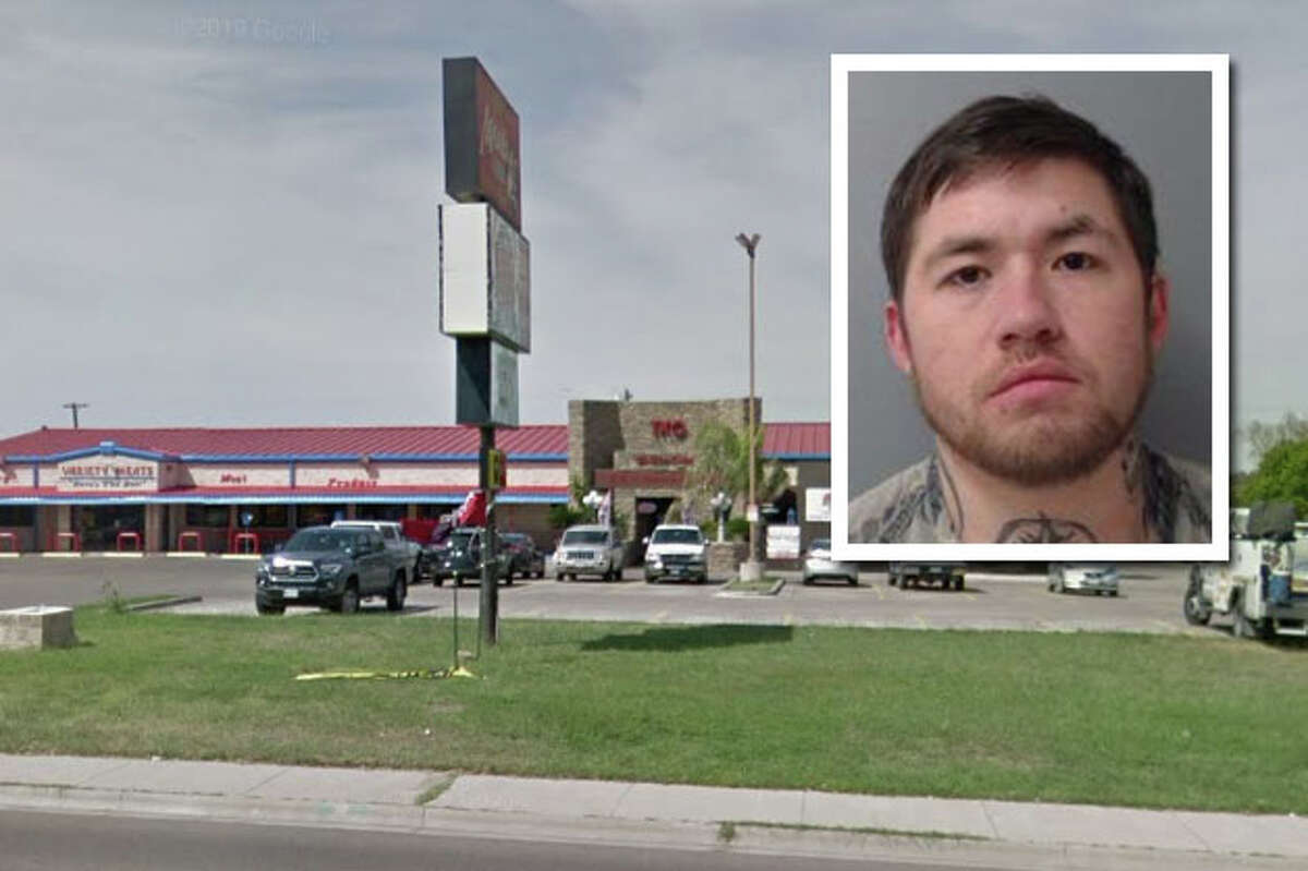A man was arrested for allegedly breaking a sign that belonged to the TKO Sports Café in North Laredo.