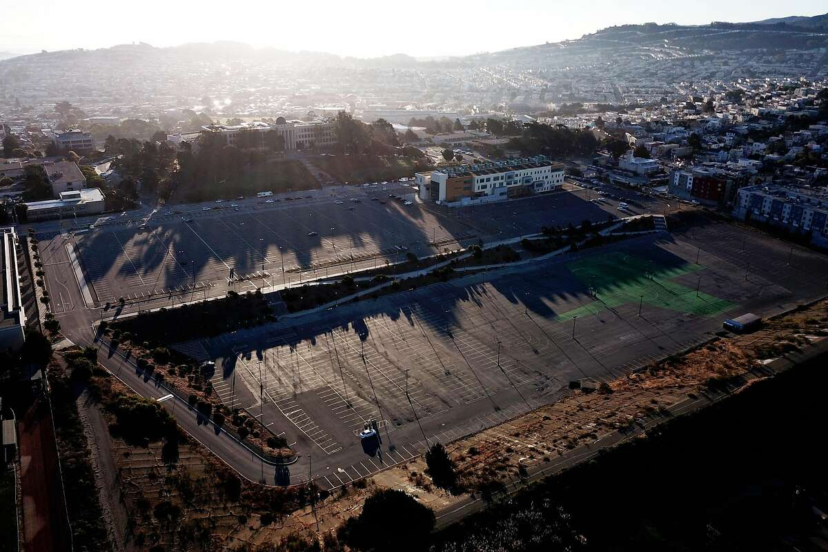 The Balboa Reservoir on Tuesday, Oct. 16, 2018, in San Francisco, Calif. The Balboa Reservoir site is currently used as City College of San Francisco's student parking. According to the city, planning is underway to develop the site with mixed-income housing, open space and community amenities.
