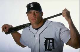 2 Mar 1999:  Outfielder Gabe Kapler #23 of the Detroit Tigers poses for a studio portrait on Photo Day during Spring Training at the Joker Merchant Stadium in Lakeland, Florida. Mandatory Credit: Vincent Laforet  /Allsport