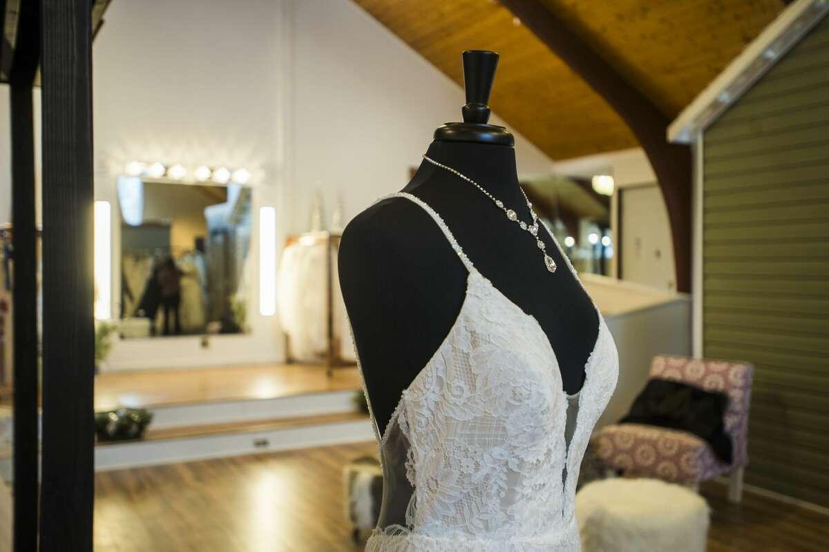 Three Diamonds Bridal Boutique, located at 230 W. Saginaw Road in Sanford, will host an open house Dec. 6, 2019. (Katy Kildee/kkildee@mdn.net)