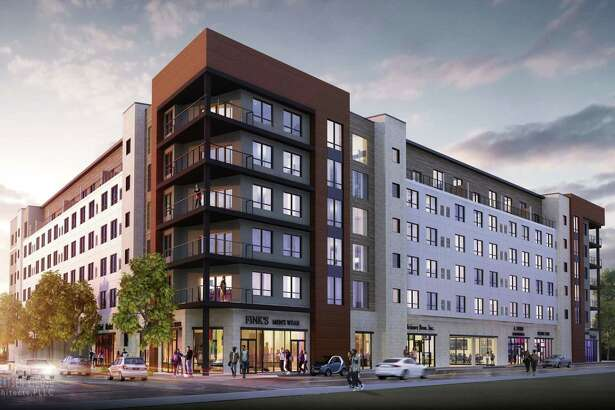 The apartment building at Quackenbush Square, Albany