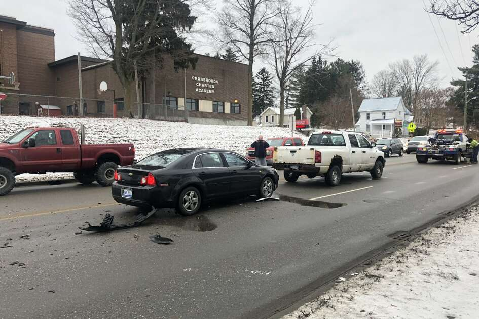 The Big Rapids Department Public Safety is currently cleaning up a two-vehicle accident along State Street.