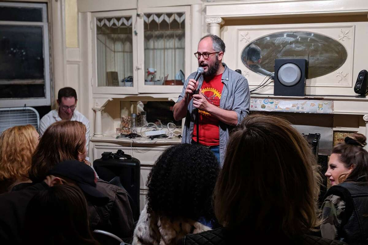 Comedian Jonah Pollack invites strangers into his Oakland living room every week for a free comedy show.