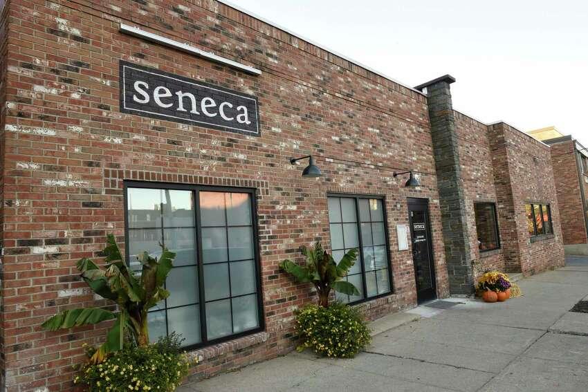 Exterior of Seneca restaurant on Wednesday, Nov. 6, 2019 in Saratoga Springs, N.Y. (Lori Van Buren/Times Union)