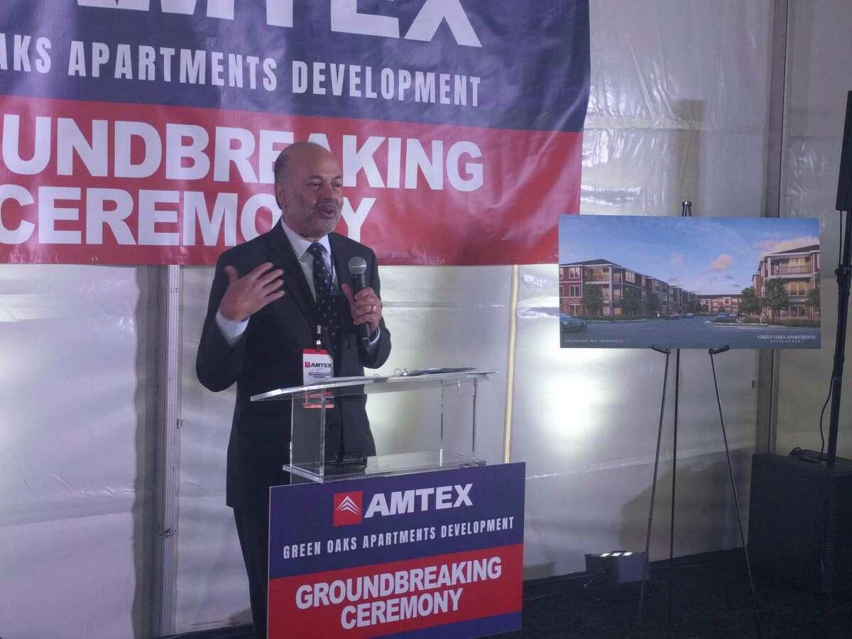 Amtex President Arjun Nagarkatti speaks about the company's new affordable housing development Green Oaks Apartments.