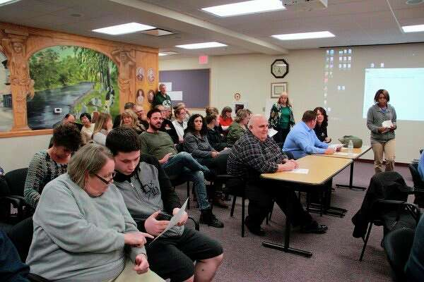 Featured is a photo from the Big Rapids City Commission Oct. 7 meeting. At this meeting, city commissioners voted to opt-in for medical and recreational marijuana, allowing both to be sold within the city. (Pioneer file photo)