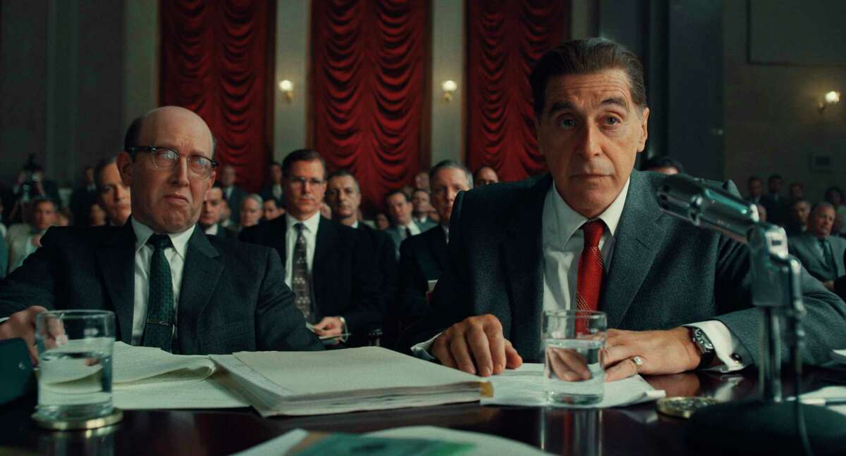 This image released by Netflix shows Al Pacino, right, in a scene from