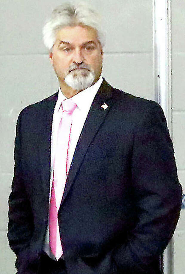 Mike Edwards is back as head coach of the Alton High hockey team after two years off following a four-season stint at SIUE. Photo: Telegraph File