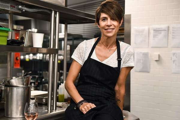 Chef Dominique Crenn attends the Food Network & Cooking Channel New York City Wine & Food Festival on Oct. 12, 2017 in New York City. Crenn announced on Thursday all three of her existing restaurants were going meatless.