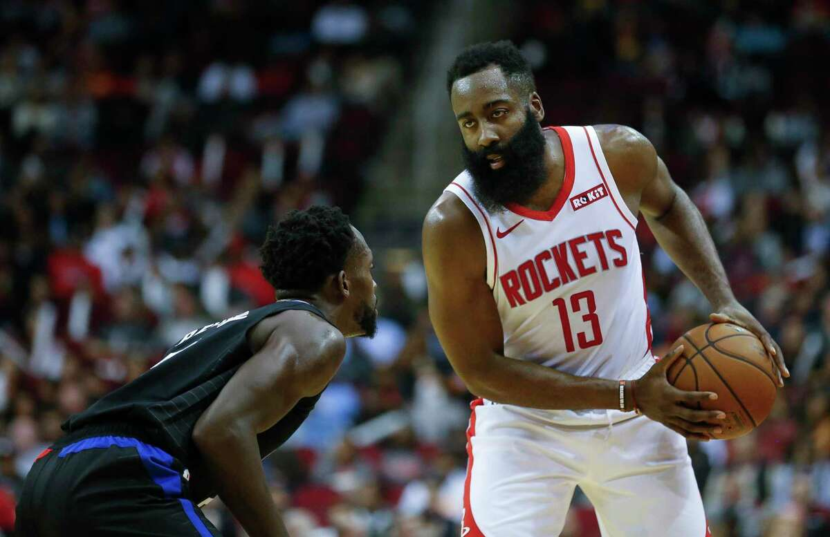 James Harden, being guarded by Patrick Beverley last week, has praised his former teammate as a 'pest' on defense. Beverley said he doesn't hear what others say aout him.