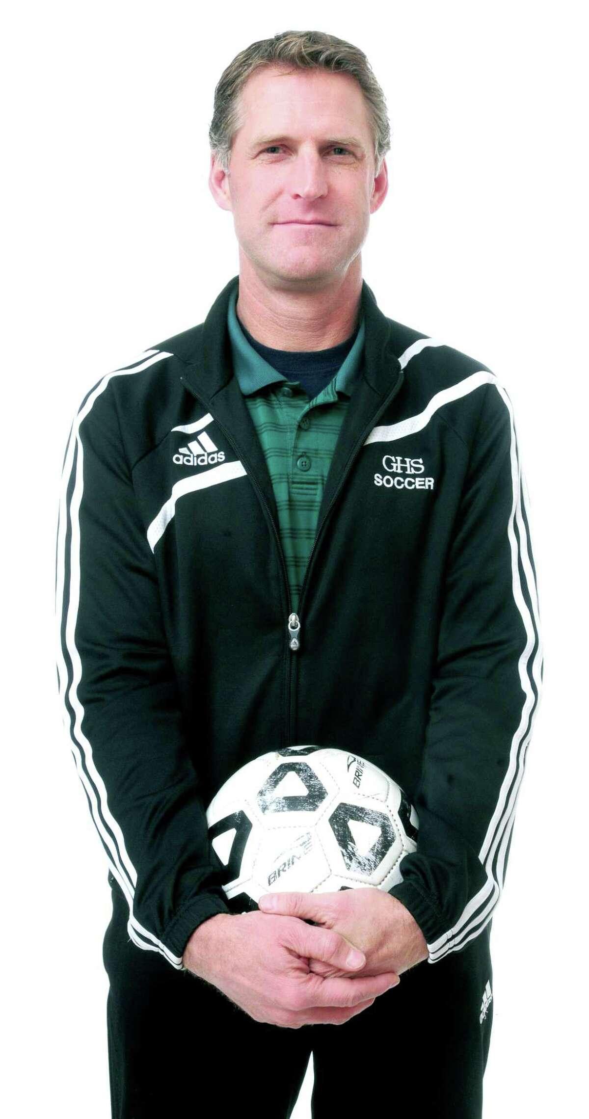 Former Guilford girls soccer coach Scott McMahon.