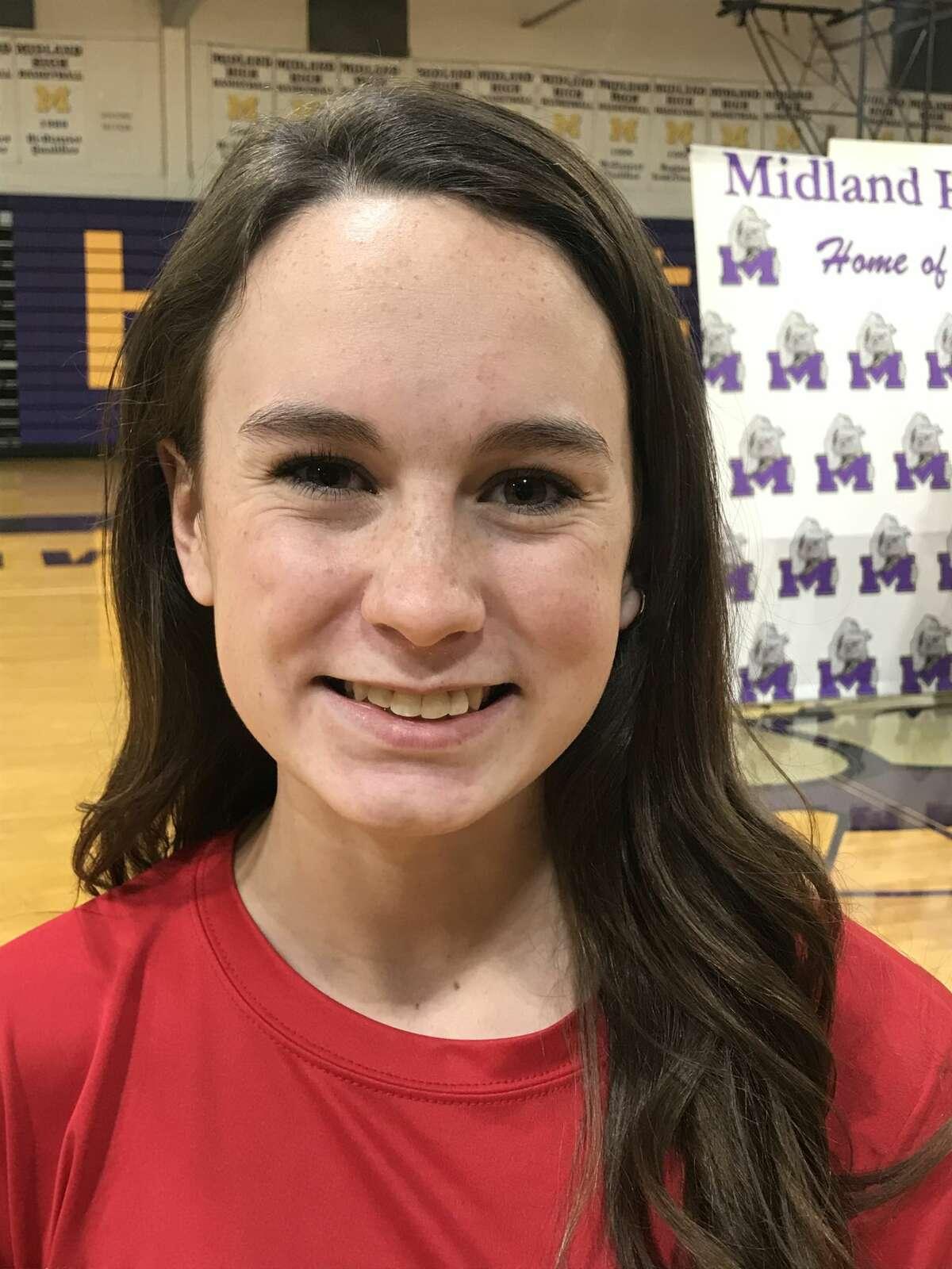 Midland High diver Kristen Hepfer