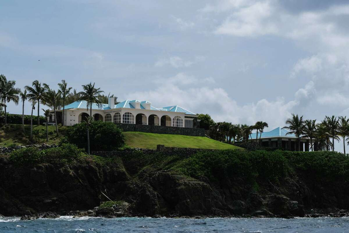 FILE -- Properties on Little St. James Island, one of the private islands owned by the late financier Jeffrey Epstein, in the U.S. Virgin Islands, Aug. 27, 2019. To compensate the dozens of women who have accused Epstein of sexual abuse, his estate will try to develop a plan with the lawyer who devised restitution programs for several high-profile disasters and scandals. (Gabriella N. Baez/The New York Times)