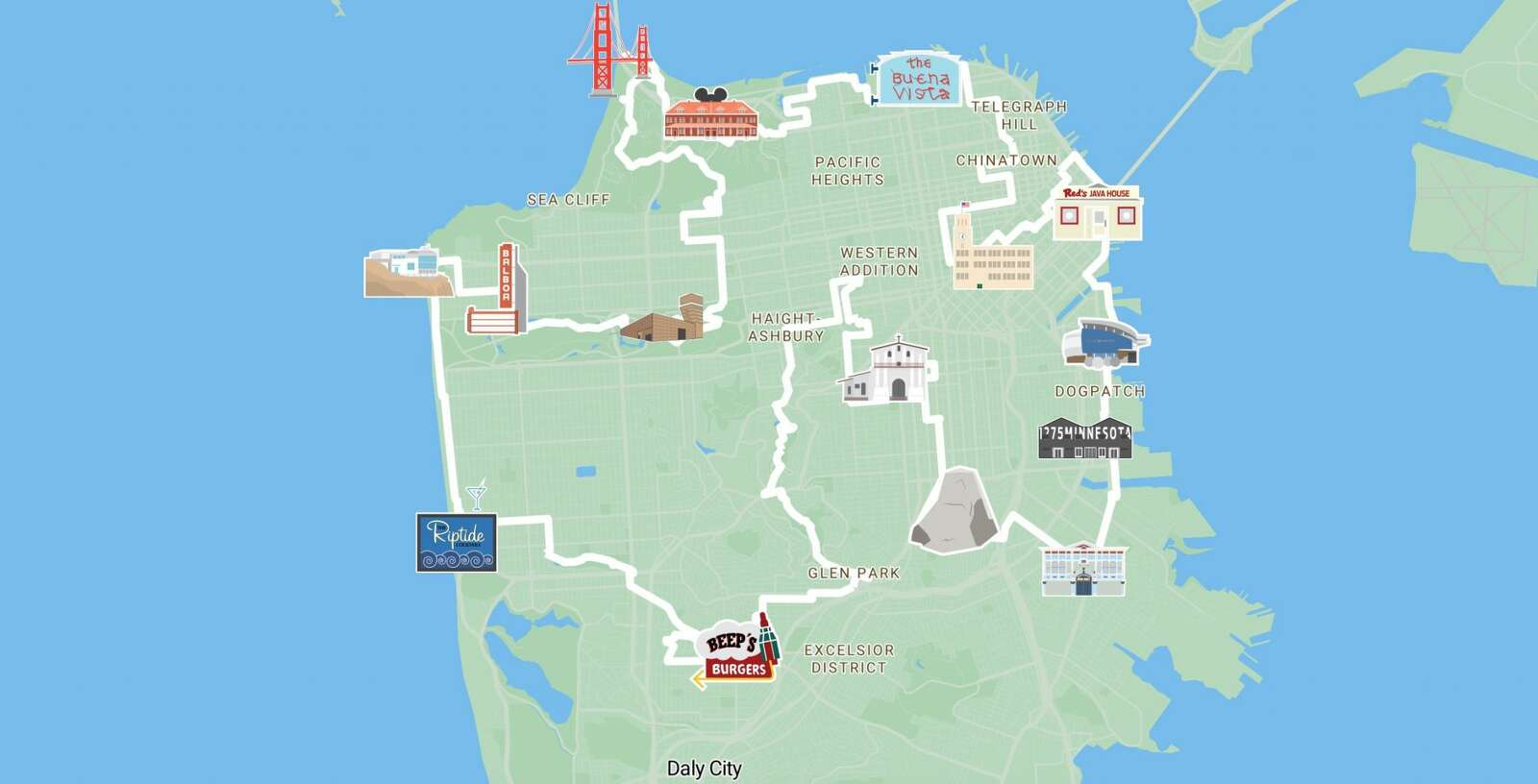 49 Mile Scenic Route: Explore San Francisco with The ... San Go Street Map on northern europe map, ca map, western europe map, mu map, osi map, mco map, central europe map,