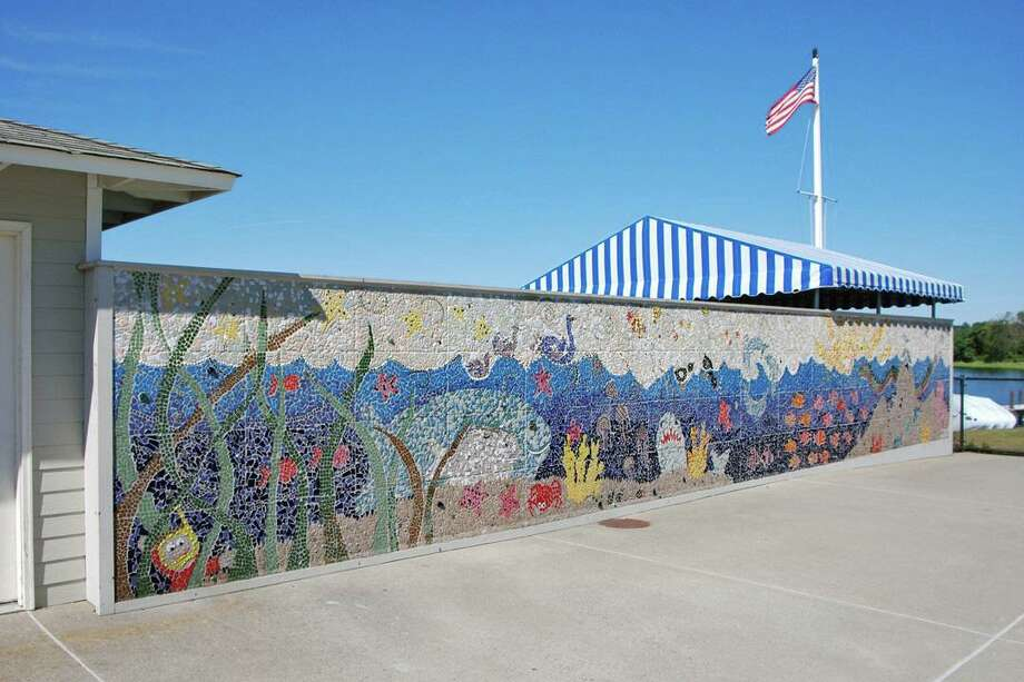 The Kidss Wall at the Longshore pool in Westport. Photo: Contributed Photo
