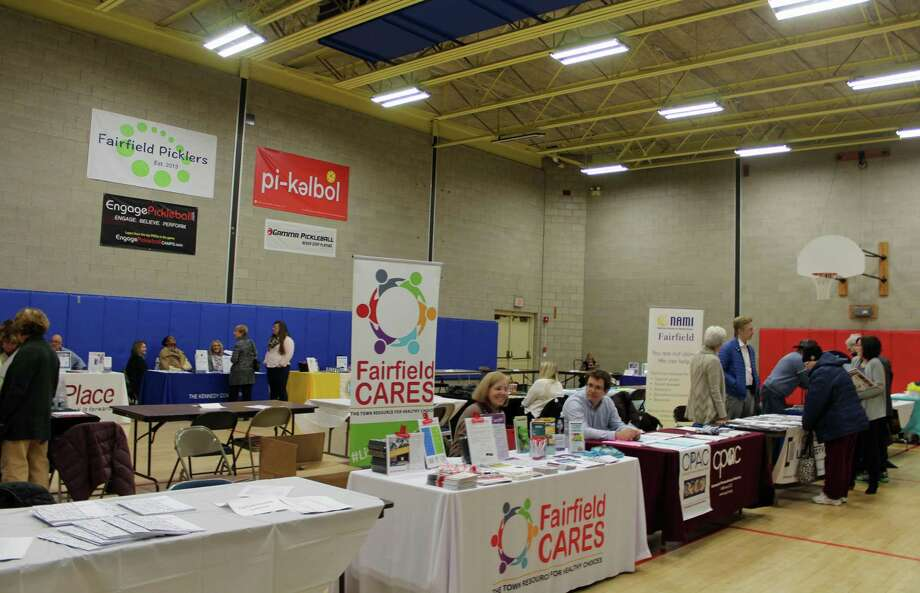 The Social Services resource fair hosted 29 local organizations. Photo: Rachel Scharf / Hearst Connecticut Media