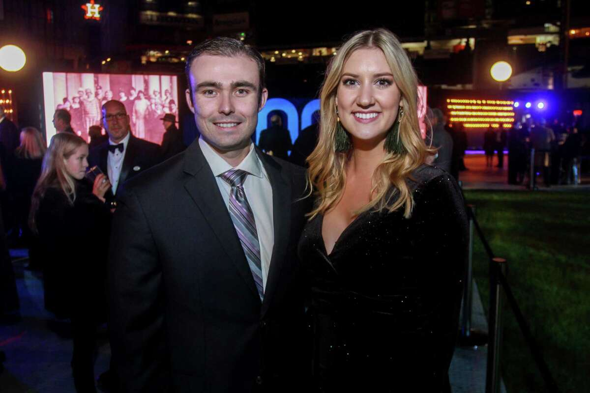 Dylan Siebenaler and Katherine Aitken at Houston Methodist Hospital's celebration of its 100 year anniversary with the
