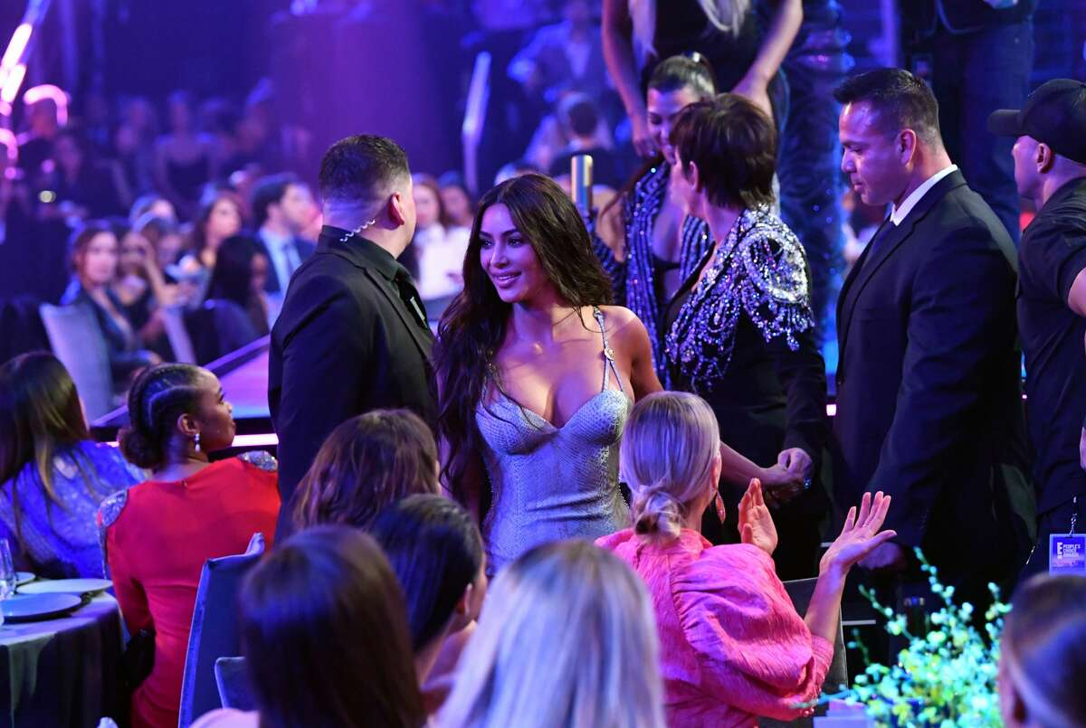 SANTA MONICA, CALIFORNIA - NOVEMBER 10: 2019 E! PEOPLE'S CHOICE AWARDS -- Pictured: Kim Kardashian attends the 2019 E! People's Choice Awards held at the Barker Hangar on November 10, 2019 -- NUP_188995 (Photo by: Emma McIntyre/E! Entertainment/NBCU Photo Bank)