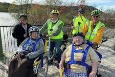 The Maples Medical Care Facility Hosted a bake sale for Joy2Ride, a nonprofit organization that took many Maples residents on a bike ride on the Betsie Valley Trail this year. (Courtesy Photo)