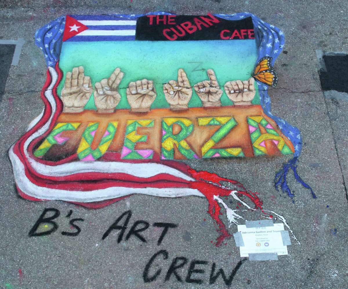 The work of Adrianna Guillen will be at Via Colori, a chalk-art festival in Houston
