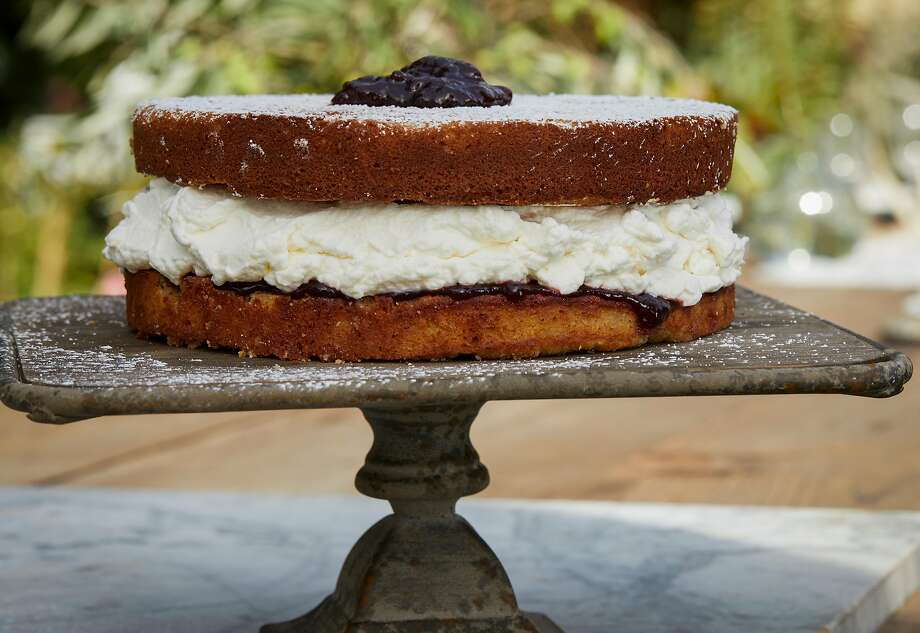 Present the Ginger Victoria Sponge Cake before serving with an extra dollop of jam on top, if you like. Photo: Russell Yip, The Chronicle