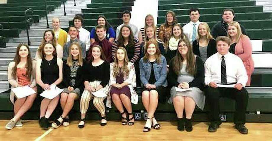 There were 24 students inducted into the Laker National Honor Society at a Nov. 5 ceremony. (Submitted Photo)