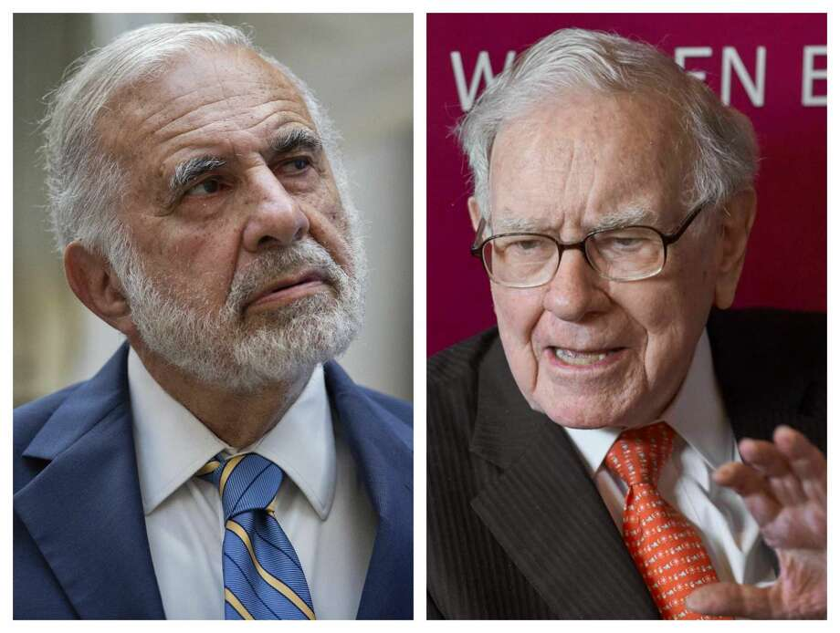 Carl Icahn, left, and Warren Buffett. The two billionaires are involved in a battle over the direction of Occidental Petroleum Corp. Photo: Bloomberg / Associated Press