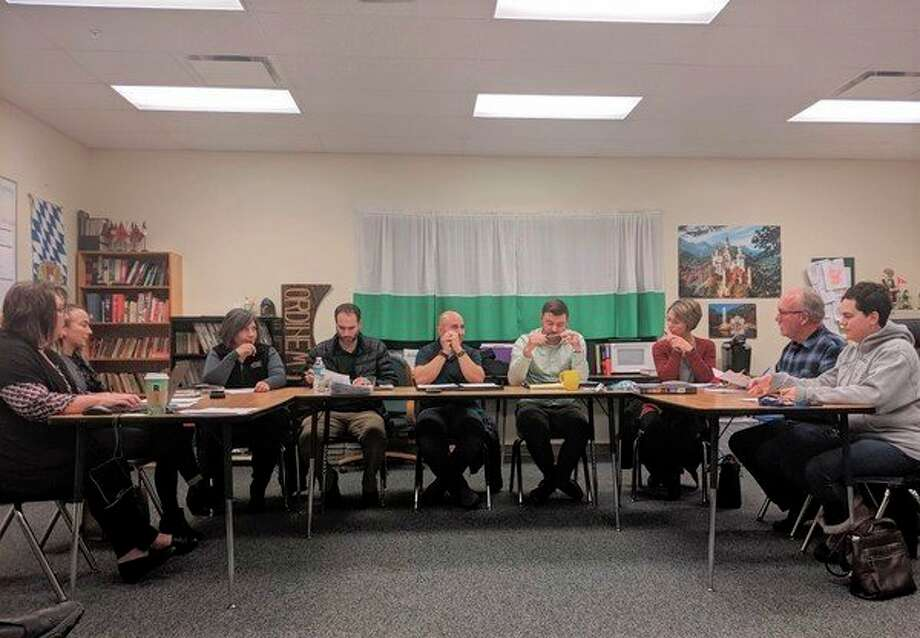 The Crossroads Charter Academy Board of Education met Thursday, Nov. 14, to discuss potential solutions to transportation issues. Transportation became a topic of concern for CCA after major education cuts were made to the state budget. (Pioneer photo/Catherine Sweeney)