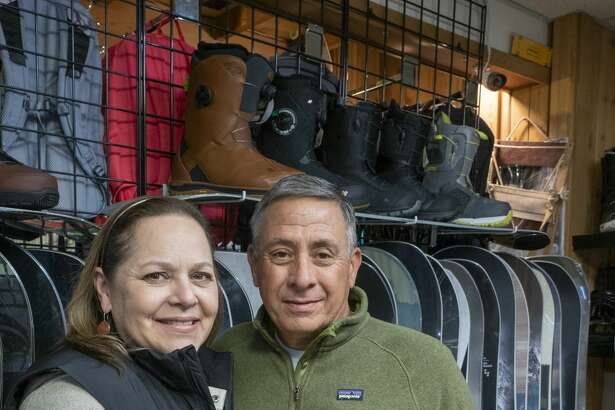 Gina and Scott Ragan, owners of Ski Skeller Sports, celebrating the 50th anniversary of the store. 11/14/19 Tim Fischer/Reporter-Telegram