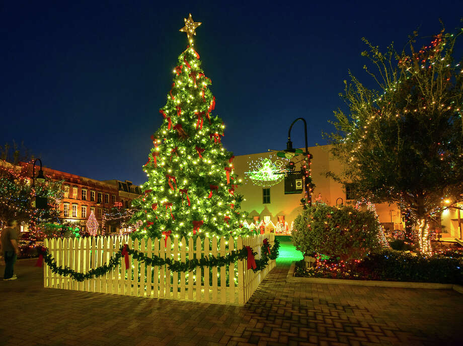 At Saengerfest Park, a sparkling 37-foot Christmas tree (the star on top is 5 feet by itself) will represent the holiday season. Photo: Courtesy Galveston Island Convention And Visitors Bureau / Vadim Troshkin