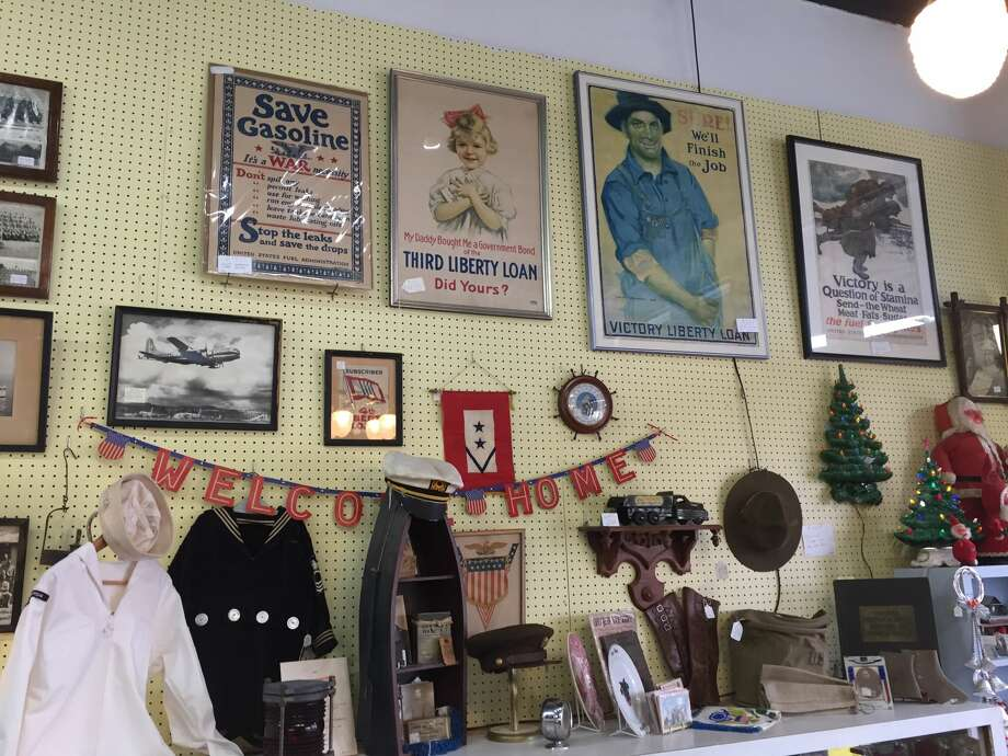 Popular items among antique shops include vintage cameras and typewriters, pocket watches and timepieces, military memorabilia and World War II posters, sterling silver and advertising signs. Photo: Courtesy Of St. John Antiques