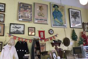 Popular items among antique shops include vintage cameras and typewriters, pocket watches and timepieces, military memorabilia and World War II posters, sterling silver and advertising signs.