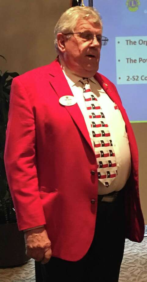 Lions District 2-S2 Governor, Tony Austin, was the guest speaker at a recent Lake Conroe Centennial Lions Club meeting that was help at Walden Yacht Club. Photo: Courtesy Photo