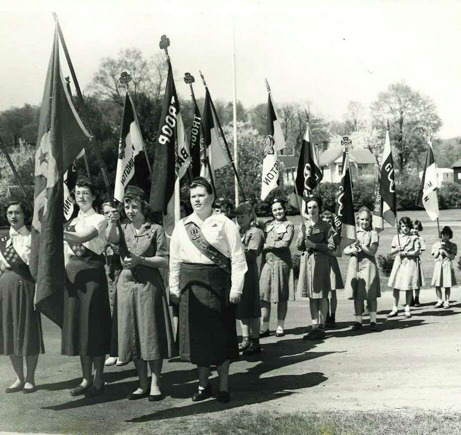 Girl Scouts at District I Rally in Washington Depot, May 11, 1955. Photo: Girl Scouts Of Connecticut / Contributed Photo