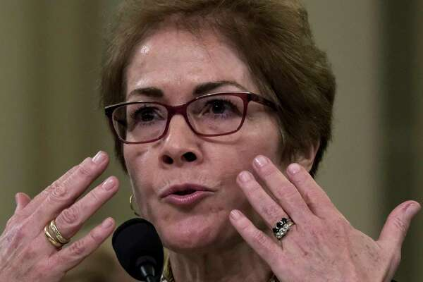 Former ambassador to Ukraine Marie Yovanovitch describes color draining from her face during testimony for the impeachment inquiry of President Donald Trump in Washington, D.C., on Friday.