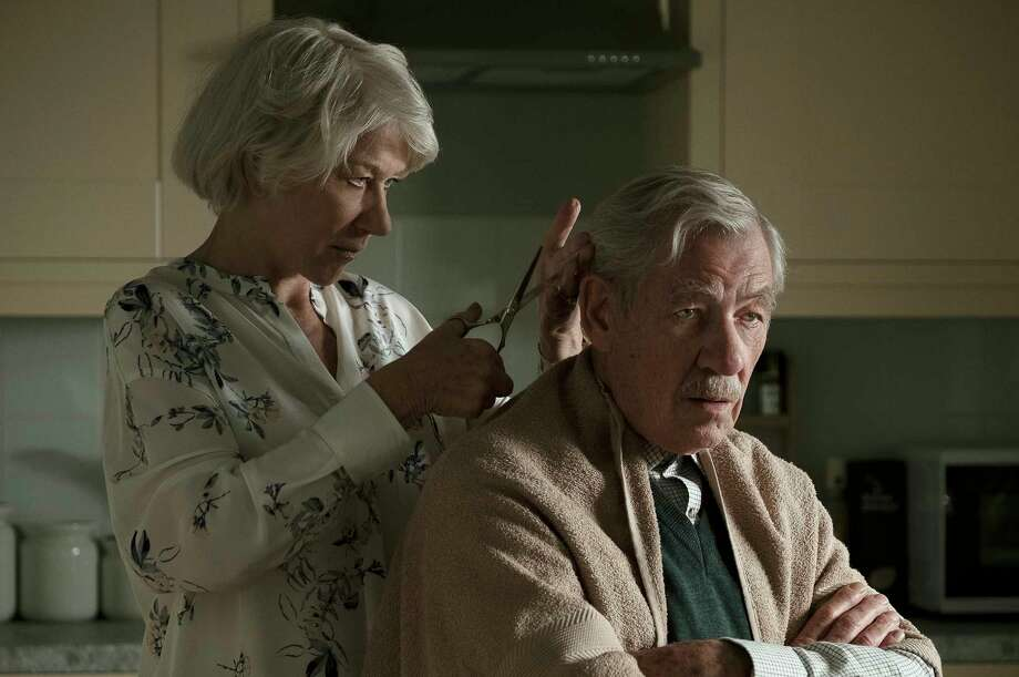 "This image released by Warner Bros. Pictures shows Ian McKellen, right, and Helen Mirren in a scene from ""The Good Liar."" (Chia James/Warner Bros. Pictures via AP) Photo: Chia James / © 2019 Warner Bros. Entertainment Inc. and BRON Creative USA, Co"