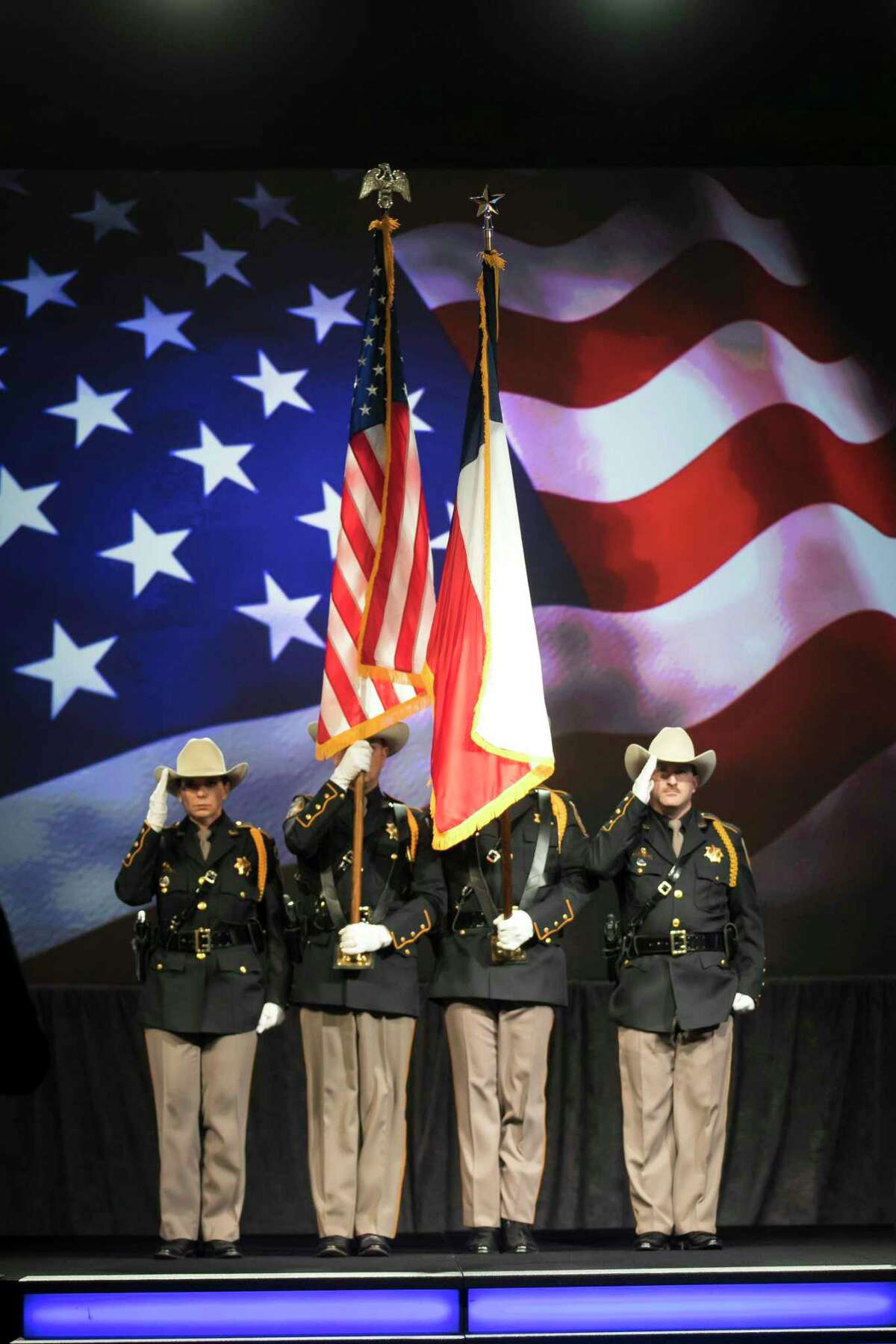 The Presentation of Colors during Harris County Judge Lina Hidalgo's annual State of the County address on Friday, Nov. 15, 2019, in downtown Houston.
